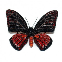 Broche Mariposa Roja