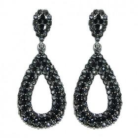 Pendientes Cristal de Roca Negro