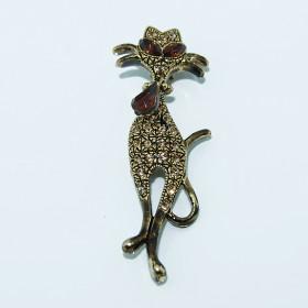 Broche Gato Dorado