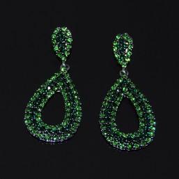 Pendientes Cristal de Roca Verde