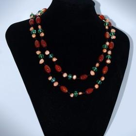 Collar Piedra y Perla Multicolor