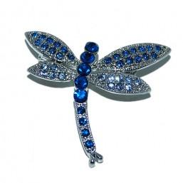 Broche Libélula Azul
